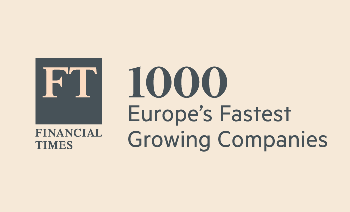 6th fastest growing European SME in Financial Times 1000