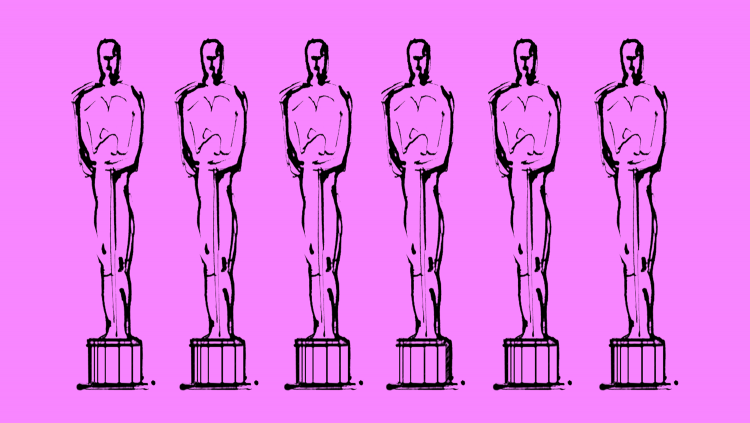 Illustration of 5 Oscars in a row